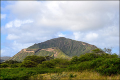 view of Koko Head from the path to Makapu'u Tide Pools