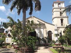 Église et cocotiers / Church amongst coconut trees