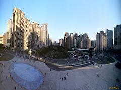 Blick aus dem Theater von Taichung