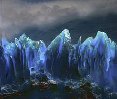 Laser lightning on Perito Moreno...