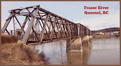Wooden Truss Bridge - Built in 1929 Quesnel, BC Canada