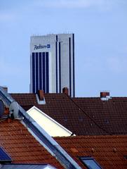 Radisson Hotel von der Dachterasse aus