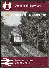 Plymouth-Gunnislake 1985