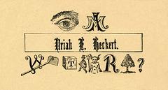 I Am Uriah E. Heckert