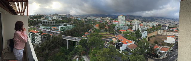 Storm clouds over Funchal