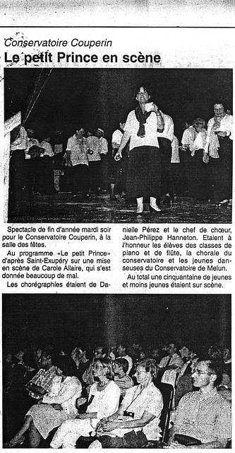 1999 06 29 Le petit Prince à Mormant 29 06 1999