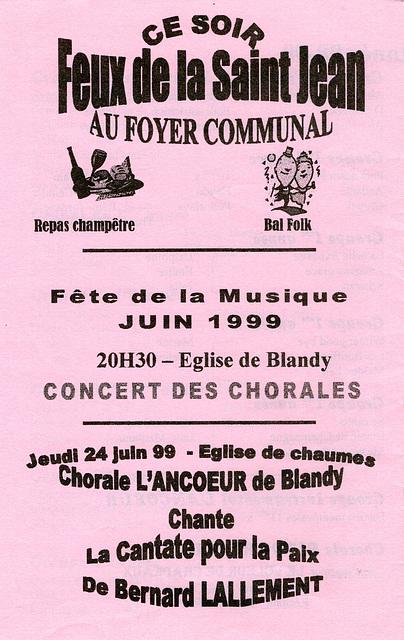 1999 06 24 Concert à Chaumes-en-Brie 24 06 1999 2