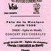 Concert des Chorales à l'église de Chaumes-en-Brie le 24/06/1999
