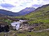 View down The Abhainn Bruachaig to Beinn Eighe Wester Ross May 2004