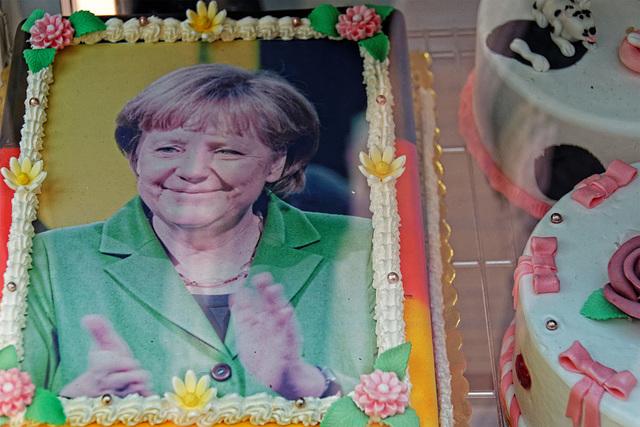 die süsse Frau Merkel in Stralsund - am 9. Juli 2016! (© Buelipix)
