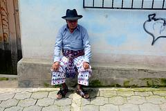 Guatemala, Small Town of San Pedro La Laguna, Resting on the Home Street