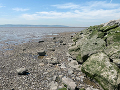 Wider view of the Dee Estuary with Wales headland on the horizon