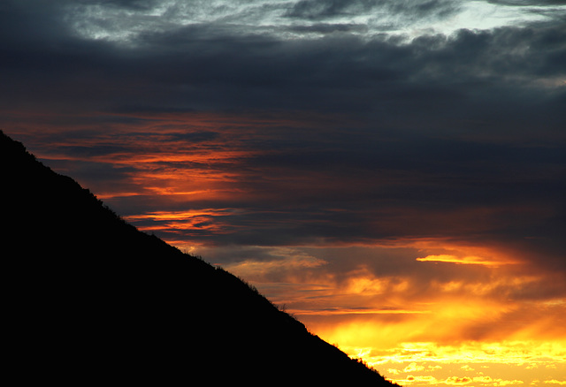 Sunset in the San Gabriel Mountains