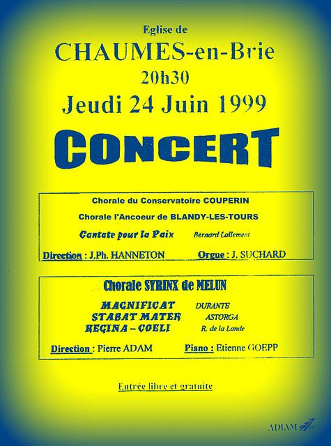 1999 06 24 Concert à Chaumes-en-Brie 24 06 1999 1