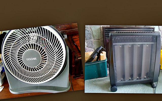 Fan and Heater.