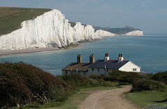 The Seven Sisters from the old coastguards cottages.