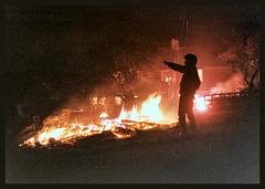 Guy Fawkes Night bonfire