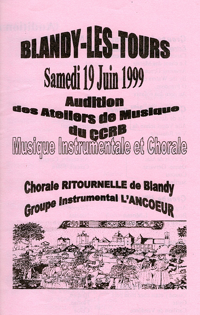 1999 06 19 Concert à Blandy-les-Tours 19 06 1999