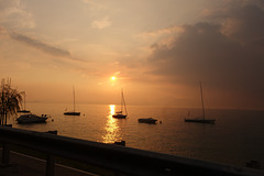 Sunset on Lake Guarda
