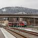 Desiro der Erzgebirgsbahn bei der Ausfahrt in Aue Richtung Johanngeorgenstadt über Schwarzenberg