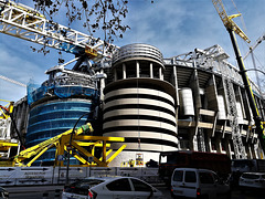 Estadio Santiago Bernabéu. Work in progress.