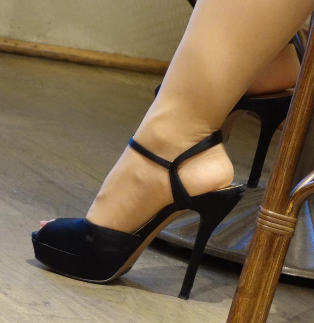 high heel close up