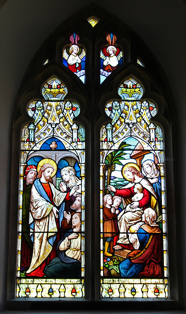 Stained Glass Window, Peasenhall Church, Suffolk