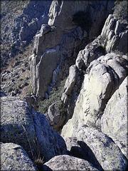Sierra de La Cabrera - granite ridge.
