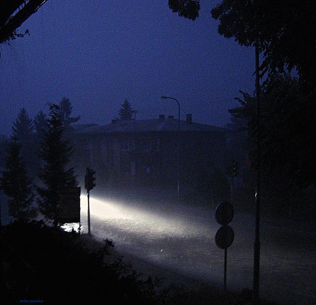 Stormy night, elektricity was gone...
