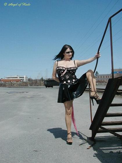 Vivienne on the rails