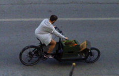 Cargo bicycle.