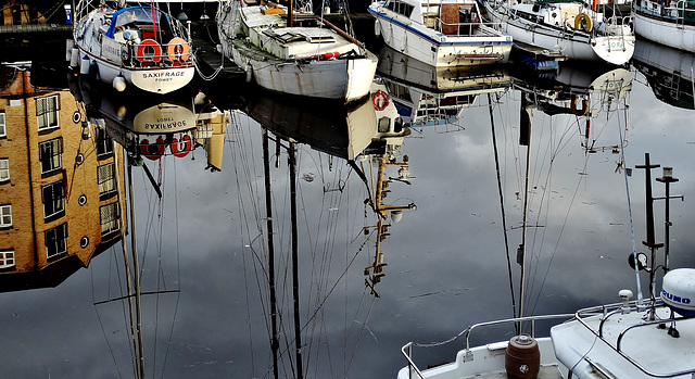 Reflections. St Peters Marina