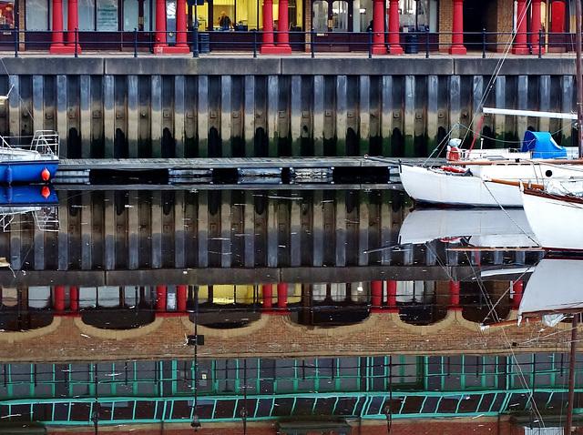 Reflections. St Peters Marina