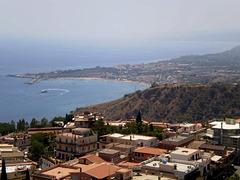 Zoom view to Giardini Naxos.