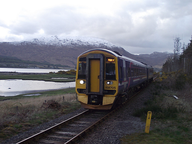 158705 approaches Attadale station
