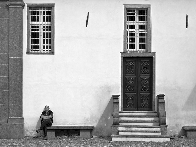 Waiting for the door to open - Oropa, Biella