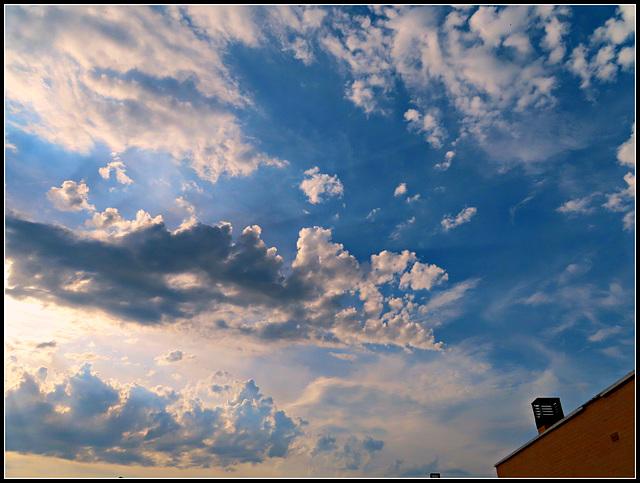 Nubes de atardecer, 2