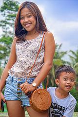 Adii and Wira at Green Kubu