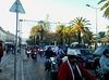 Bikers of Moto-manos Club from Luz de Tavira riding with Santa Claus clothes.