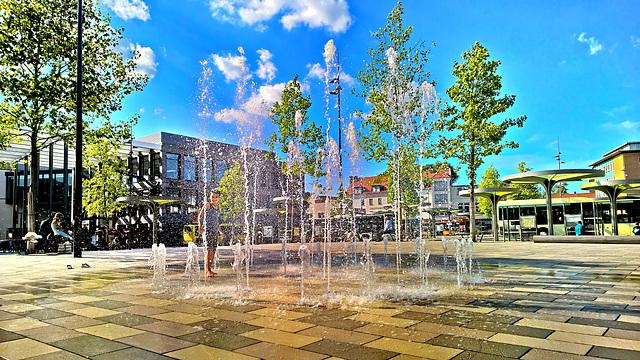 Hanau - Freiheitsplatz - Wasserspiel