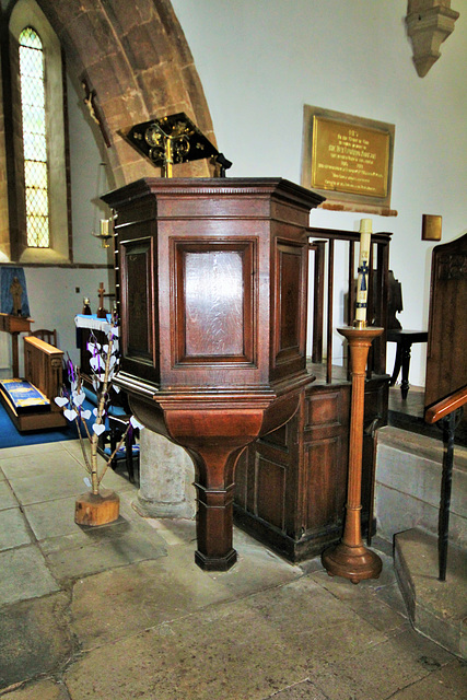 Pulpit, St James the Great, Gretton, Northamptonshire