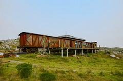 Train on the mountain