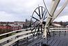 Turning wheel of windmill De Valk