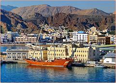 Oman : Un bel caicco nel porto di Mutrah