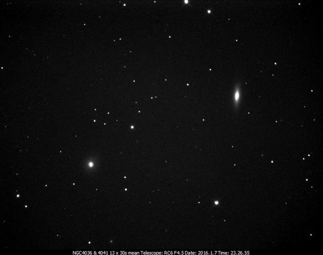 NGC4036 (left) & 4041  in Ursa Major