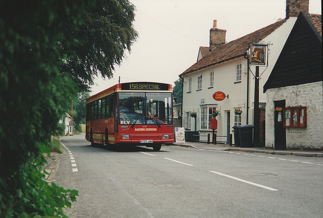 Eastern Counties K737 JAH in Barton Mills - 9 Jul 1995
