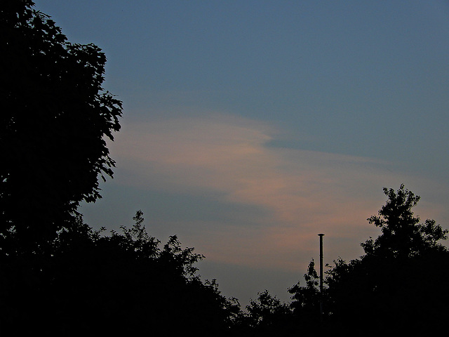 ciel du soir,