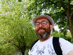 DE - Ahrweiler - me, on the banks of the Ahr