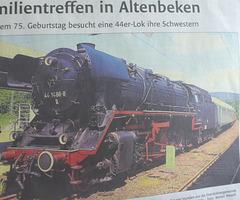 Eine 44er-Lokomotive - Familientreffen in Altenbeken
