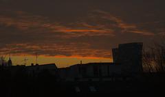 Seltsamer Morgenhimmel